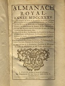 Almanach royal (1735)