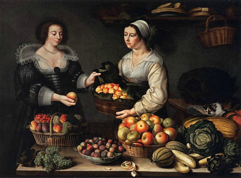Marchande de fruits et legumes (Louise Moillon, 1630)