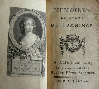 Memoires du comte de Comminges (Mme de Tencin)