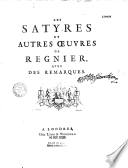 Satires (Mathurin Régnier)